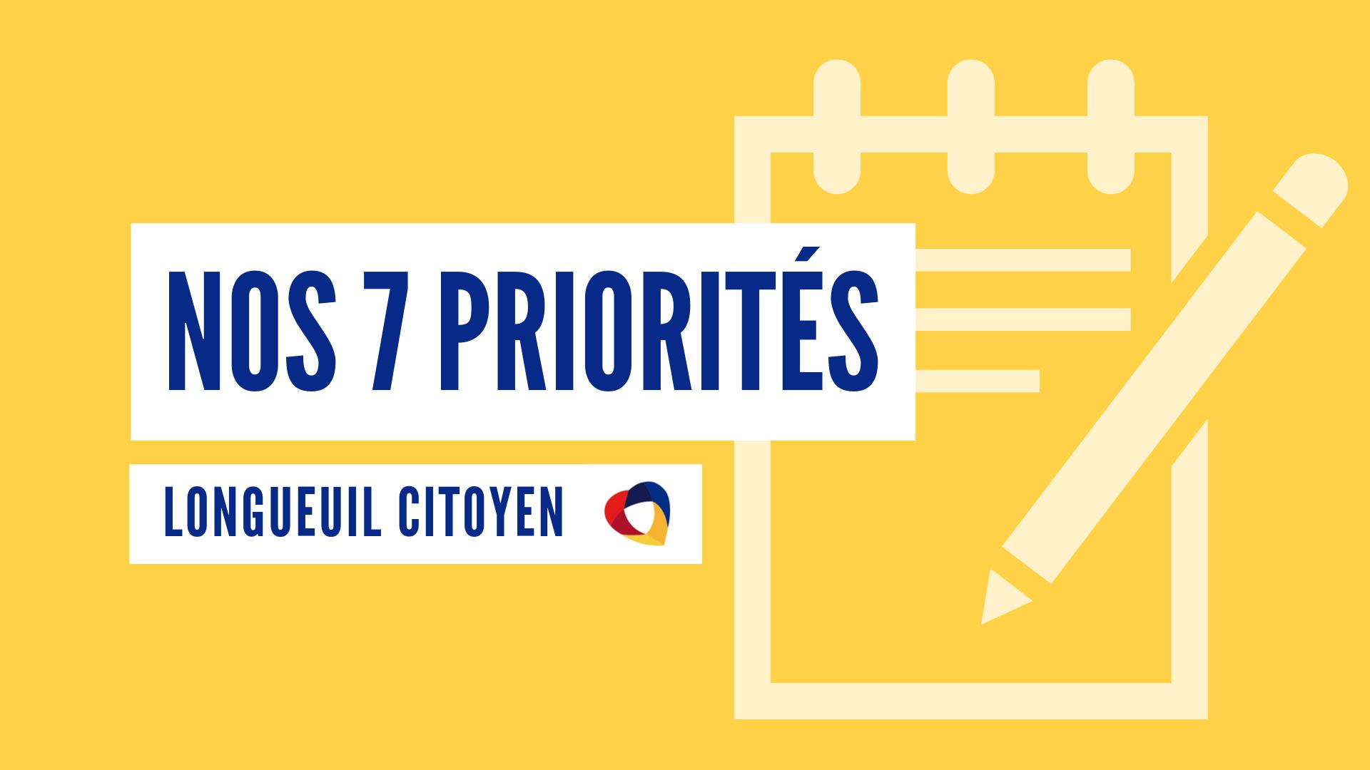 Les 7 priorités de l'opposition officielle